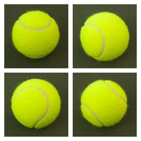 緑の裁判所の新しい黄色のテニス ・ ボール 写真素材 - 10625525