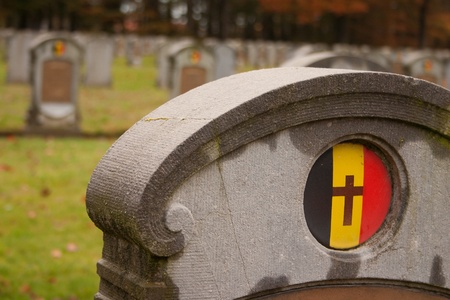 national military cemetery: The Belgian Military Cemetery of World War I in Houthulst Belgium Editorial