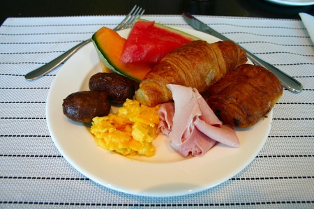 Napkin with breakfast photo