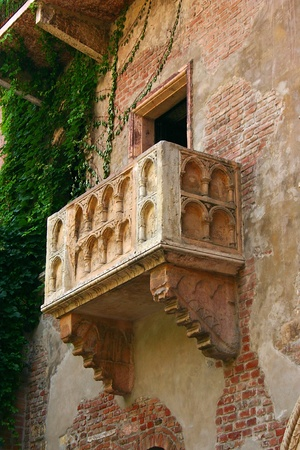 The famous Julia Balcony in Verona Italy