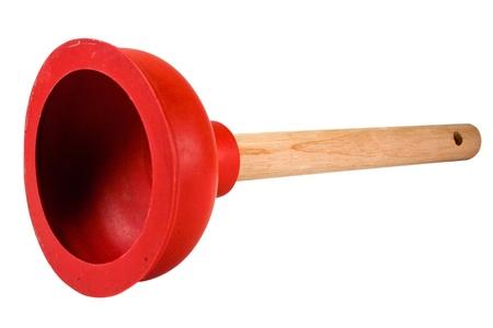 Red Plunger to unclog toilets Standard-Bild