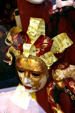 Venetian mask with musical notes Stock Photo - 13223475