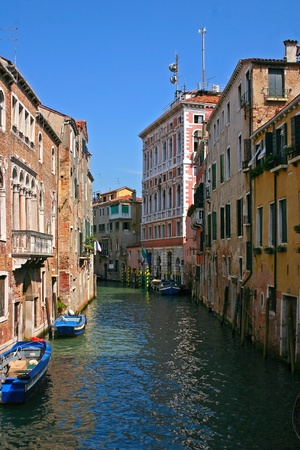 Small canal in the beautiful and romantic Venice Stock Photo - 13223477