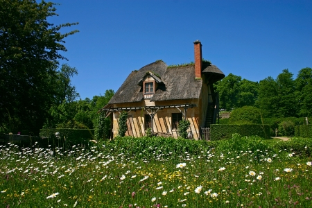 farmhouses: Queen Marie-Antoinettes Hamlet in Versailles - France Stock Photo