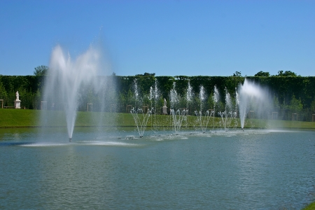 The garden of the Palace of Versailles in France photo