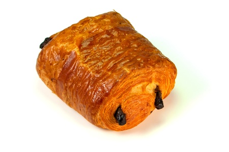 Delicious and typical french pain au chocolat
