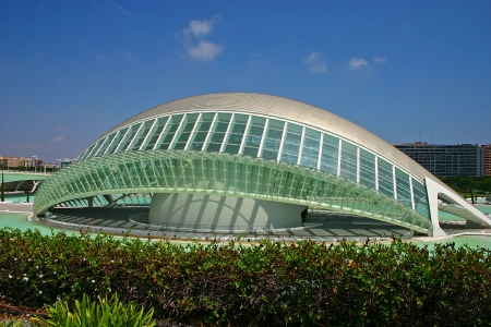 hemispheric: The Hemisferic (The City of Arts and Sciences) in Valencia, Spain Editorial