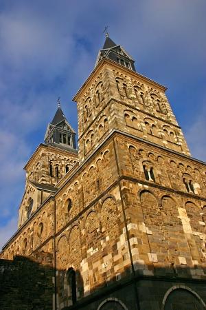maas: Basilica of Saint Servatius (Sint Servaas Basiliek) in Maastricht - Netherlands Stock Photo