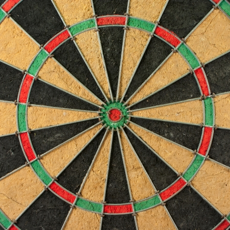 The centre circle of a darts game photo