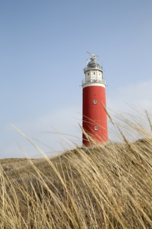 The famous red lighthouse in Cocksdorp - Texel - Netherlands