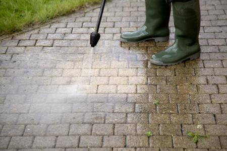 屋外の床の高圧水ジェット クリーニング