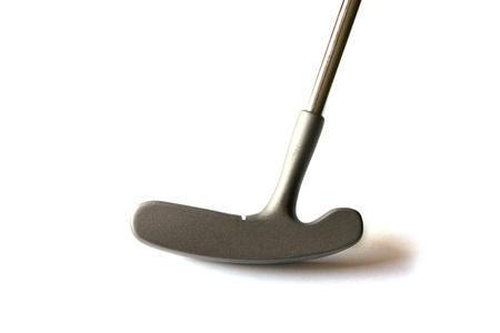 Mini Golf Stick without balls on an isolated background photo