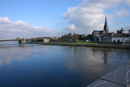 meuse: The Maas or Meuse river in Maastricht - Netherlands