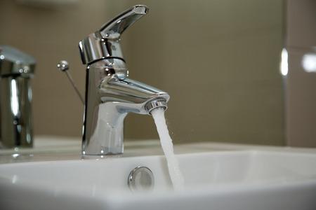 watertap: Close Up of water crane in bathroom