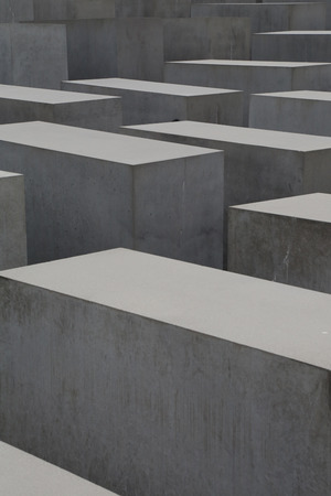 The Memorial to the Murdered Jews of Europe also known as the Holocaust Memorial in Berlin - Germany