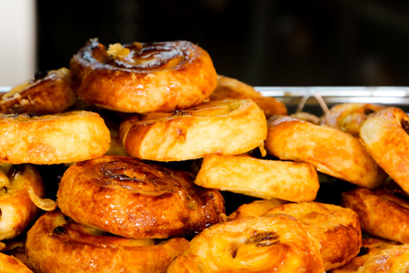 boulangerie: Selection of freshly baked pastry served for breakfast
