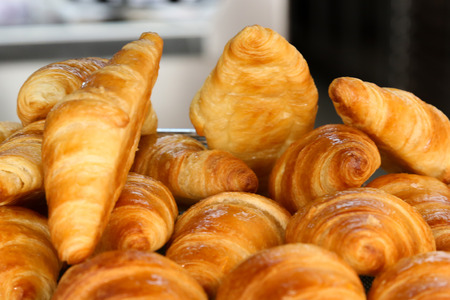 Selection of freshly baked pastry served for breakfast  photo