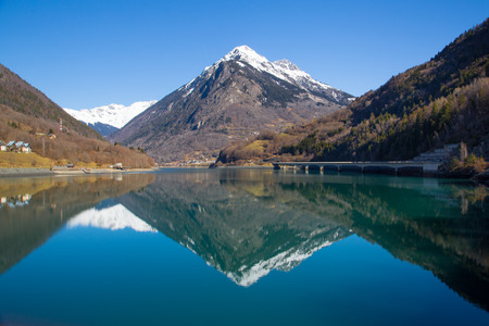 oz: Lac du Verney in the French Alps Stock Photo