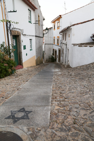 The narrow streets of the village of Castelo de Vide in Portugal