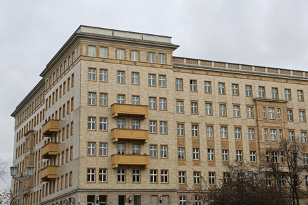 property berlin: Old typical apartments in East Berlin, Germany Editorial
