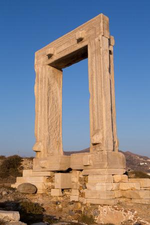 The Portara Gate of the Apollo Temple in Naxos island photo