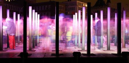 ゲント、ベルギー - 2015 年 1 月 29 日: 2015 年 1 月 29 日にヘントした光の祭典。光の彫刻、ヘントの歴史的中心部でのインストールのすべての種類。 報道画像