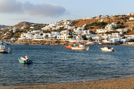 Mykonos, known from the famous wind mills photo