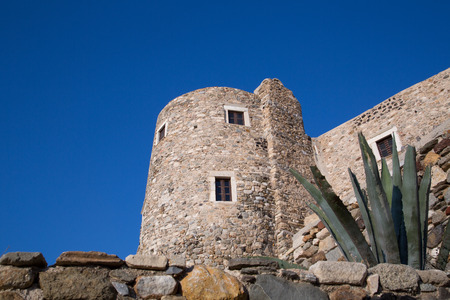 An old building in Chora at the Naxos island at the Cyclades of the Aegean sea in Greece photo