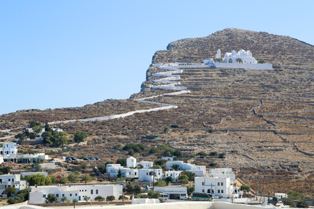chora: The church at the top of the hill in Chora, Folegandros