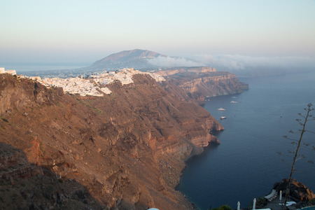 The beautiful city of Imerovigli at Santorini photo