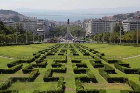 eduardo: The Eduardo vii park in Lisbon, Portugal Editorial