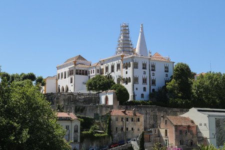 sintra: The Sintra National Palace in Sintra, Portugal