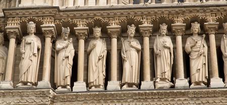フランス パリ、ノートルダム大聖堂 写真素材