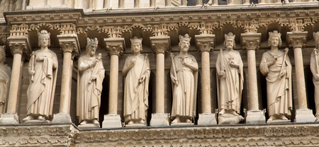 The Notre Dame Cathedral in Paris - France Standard-Bild