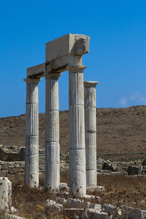 replica: The island of Delos: an important archaeological site in Greece