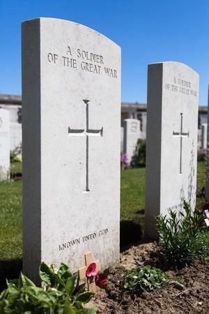 world war one: Tyne Cot World War One Cemetery, the largest British War cemetery in the world in Passendale, Belgium