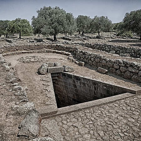 archeological: The sacred well and temple of the Nuragico di Santa Cristina complex