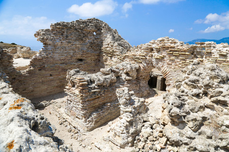 archaeologically: Ancient Roman Ruins of Nora, near Pula in Sardinia
