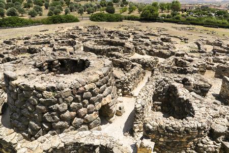 The ruins of Su Nuraxi near Barumini in Sardinia