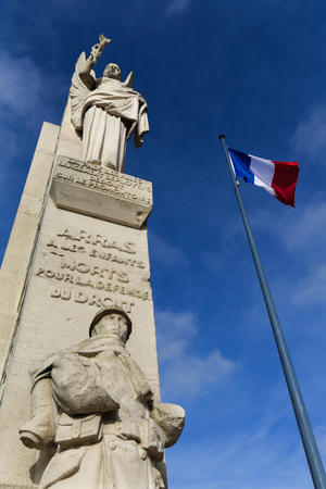 heros: World war monument in the French Arras