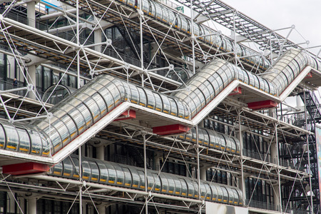 georges: The Centre Pompidou in Paris designed in the style of high-tech architecture