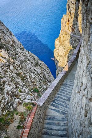 neptun: Beautiful interior of sea Neptun Cave - Sardinia, Italy Stock Photo