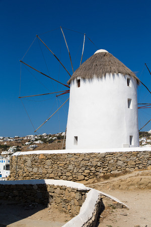 wind mills: The famous wind mills in Mykonos during day time