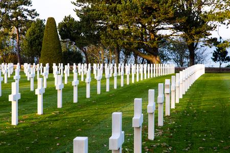 omaha: American cemetery in Collevile near Omaha beach