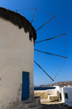 during the day: The famous wind mills in Mykonos during day time