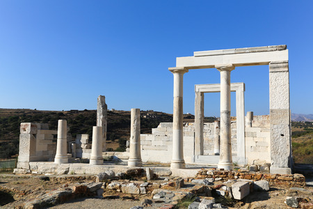 naxos: Temple of Demeter at the Naxos island in Greece