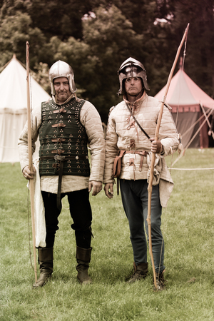 reenaction: ANTWERP, BELGIUM - JUN 4, 2016: Experience the Middle Ages as it was in 1477 during a medieval re-enactment event. on Jun 4, 2016.