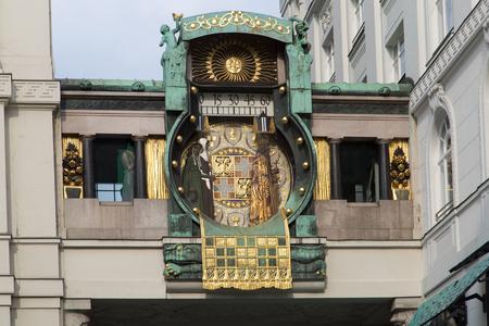 franz: Ankeruhr (Anker clock), famous astronomical clock in Vienna, Austria built by Franz von Matsch