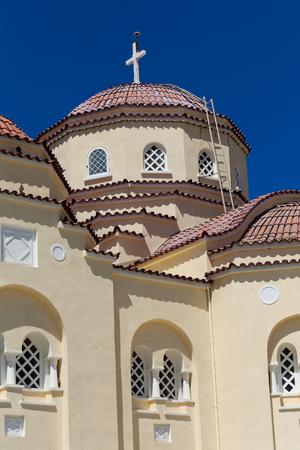fira: The church of Vothonas in Santorini, Greece Stock Photo
