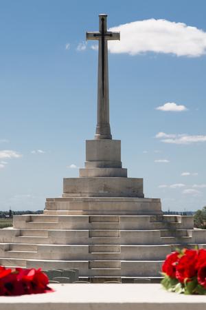PASSENDALE, BELGIUM - JUN 6, 2015: Tyne Cot World War One Cemetery the largest British War cemetery in the world in Passendale Belgium on Jun 6, 2015. Editorial